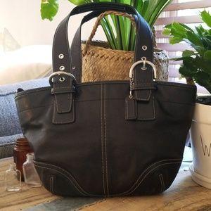 EUC, Coach Black Leather Shoulder Bag